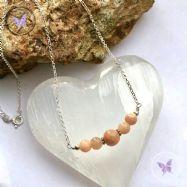 Sunstone Bar Necklace